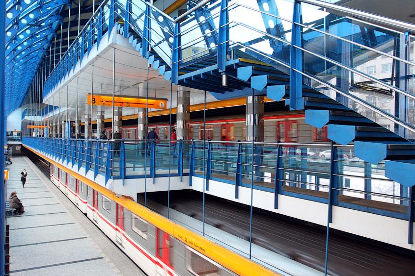 Станция Райский сад пражского метрополитена (чеш. Rajská zahrada)