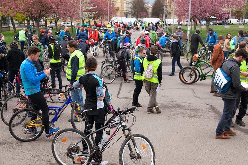 Большой весенний велопробег 2016 в Праге